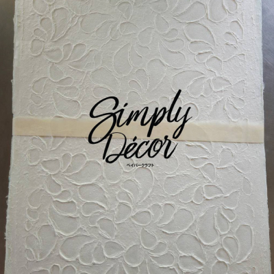 mulberry paper embossed design - horn