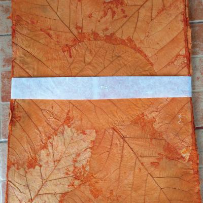 Teakleaves paper dark orange